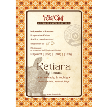 Label Ketiara light roast
