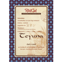 Teyuna dark roast Label